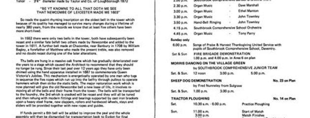 Programme for Eydon Fayre & Working Rally, 1980.   Pages 4 & 5