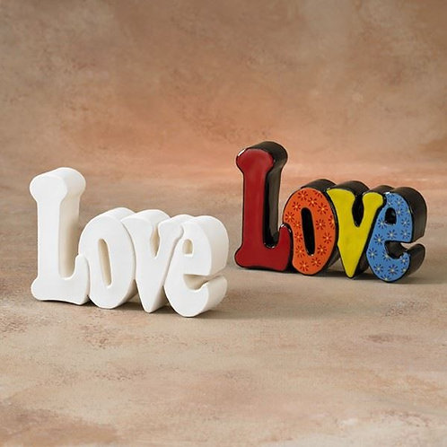 Love plaque 17x11cm