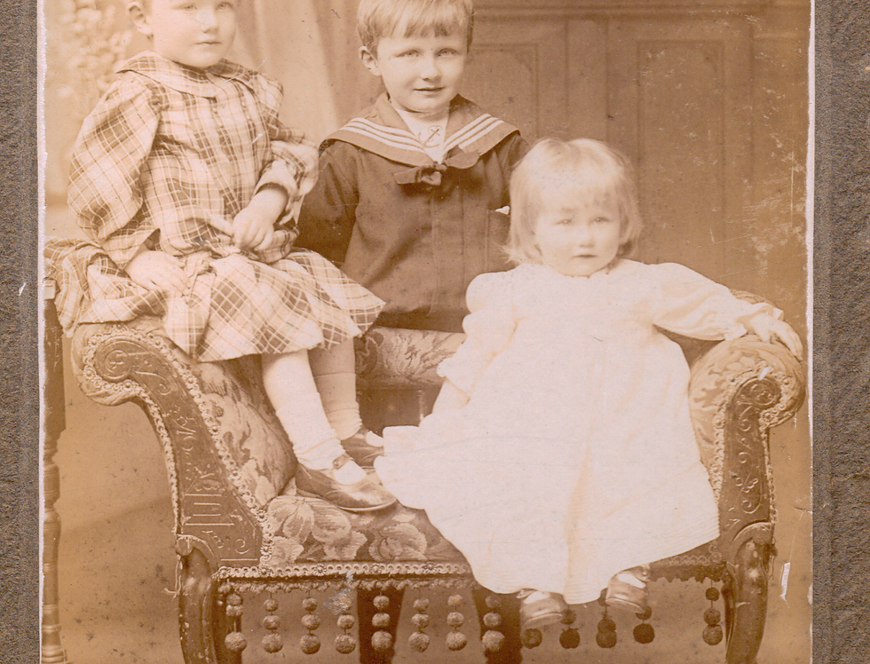 Ernest, Henry and Kathleen Weston, c1906