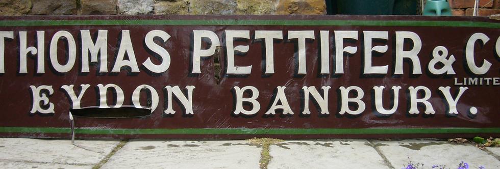 Thomas Pettifer and Co Sign
