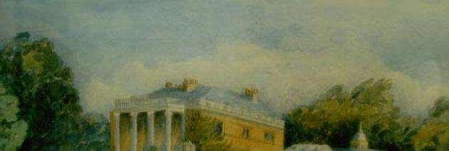 Painting of Eydon Hall, 1899