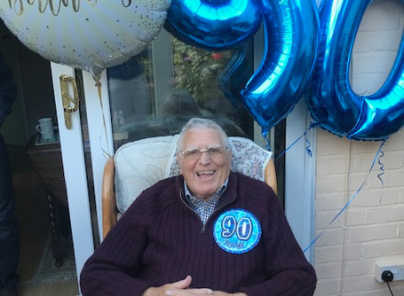Happy 90th Birthday to my most loyal customer - my Dad!