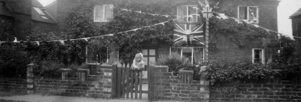 Fernlea Cottage decorated for the Coronation, 1953