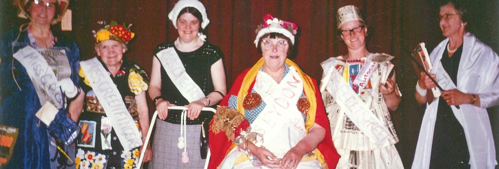 WI Fancy Dress in colour, 1970s