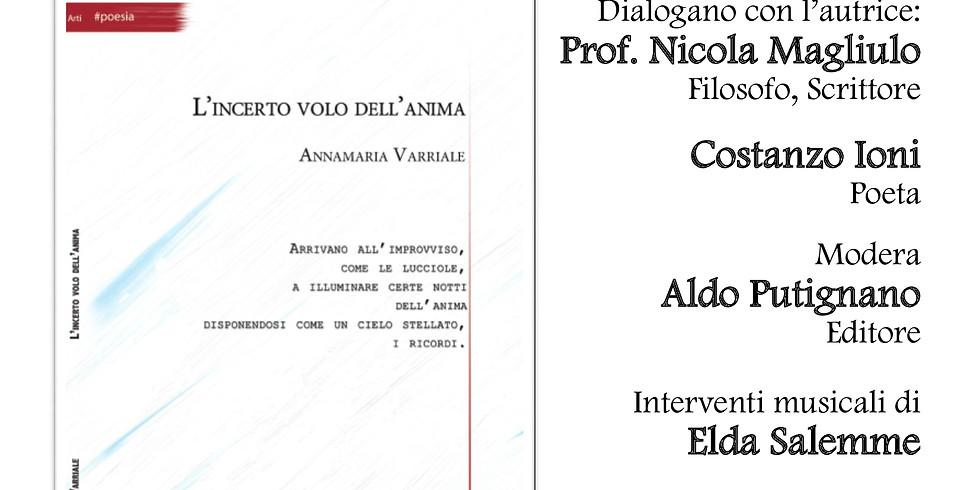 """Annamaria Varriale presenta """"L'incerto volo dell'anima"""" a Bacoli (NA)"""