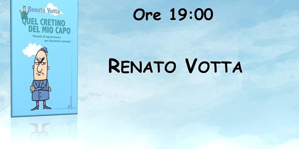 """Renato Votta presenta """"Quel cretino del mio capo"""" in sede"""