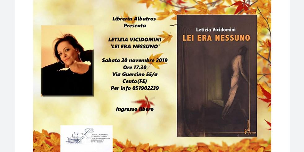 """Letizia Vicidomini presenta """"Lei era nessuno"""" a Cento (FE)"""