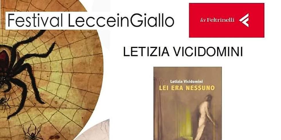 """Letizia Vicidomini presenta """"Lei era nessuno"""" a Lecce"""