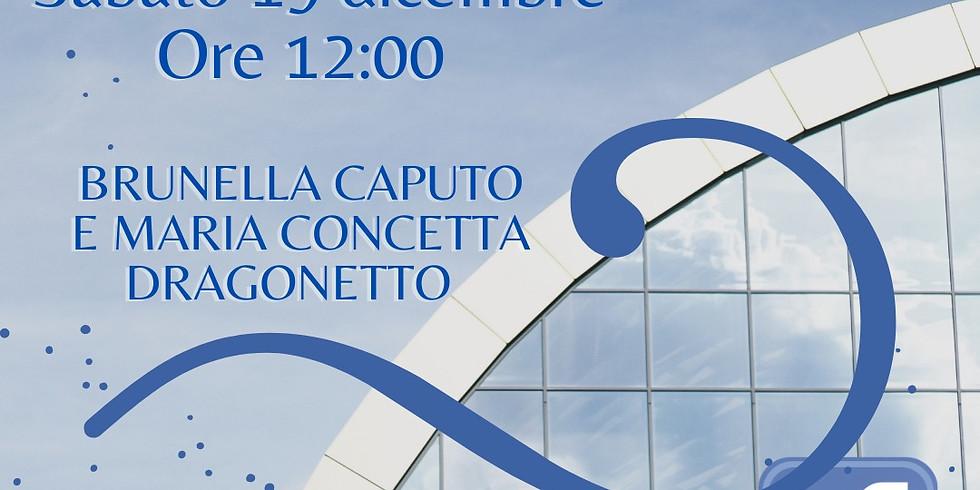 Brunella Caputo e Maria Concetta Dragonetto in diretta sulla pagina facebook di Homo Scrivens