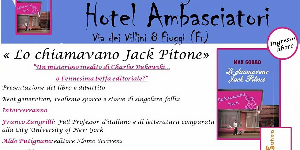 """Max Gobbo presenta """"Lo chiamavano Jack Pitone"""" a Fiuggi (FR)"""