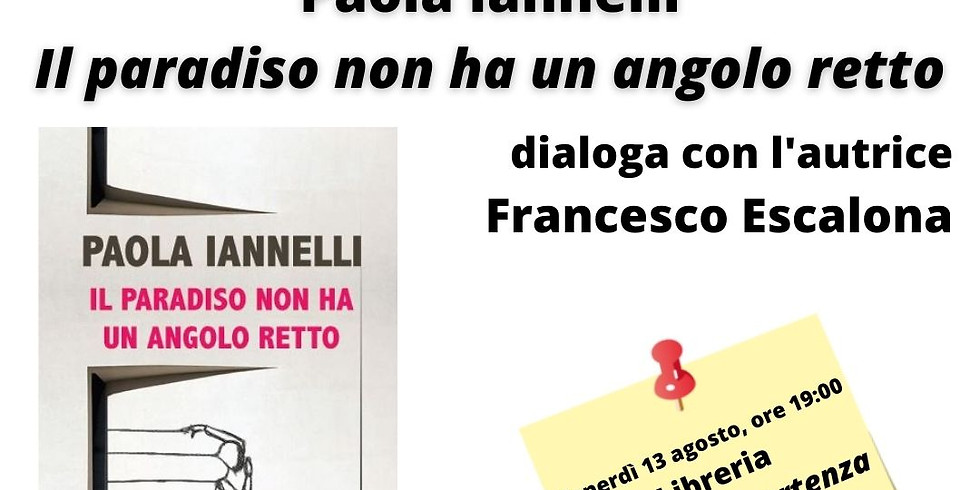 """Paola Iannelli presenta """"Il paradiso non ha un angolo retto"""" a Bacoli"""
