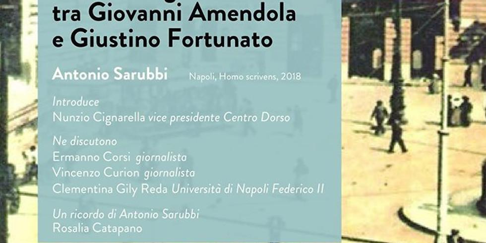 """Presentazione de """"Il salotto di via Vittoria Colonna"""" di Antonio Sarubbi presso il Circolo della Stampa di Avellino"""