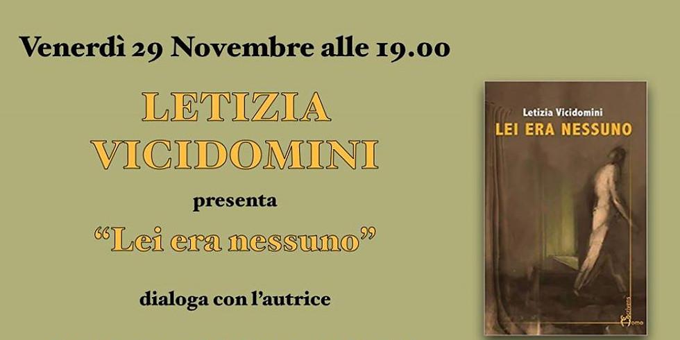 """Letizia Vicidomini presenta """"Lei era nessuno"""" a San Lazzaro di Savena (BO)"""