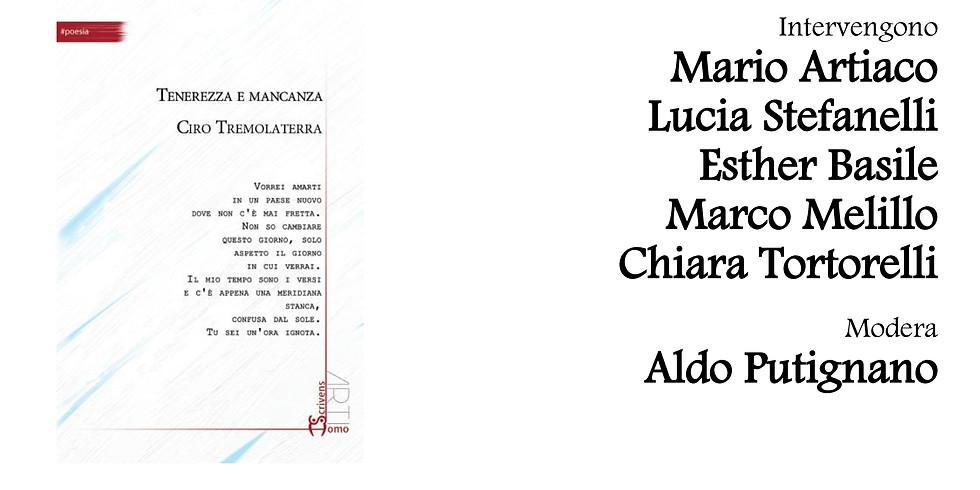 """Prima presentazione della silloge """"Tenerezza e mancanza"""" di Ciro Tremolaterra alla Biblioteca Nazionale di Napoli"""
