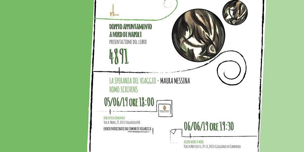 """Maura Messina presenta """"4891"""" alla biblioteca comunale di Villaricca (NA)"""