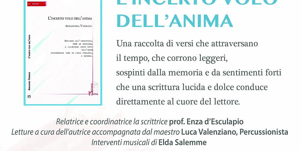 """Annamaria Varriale presenta """"L'incerto volo dell'anima"""" alla libreria Mondadori di Fuorigrotta"""