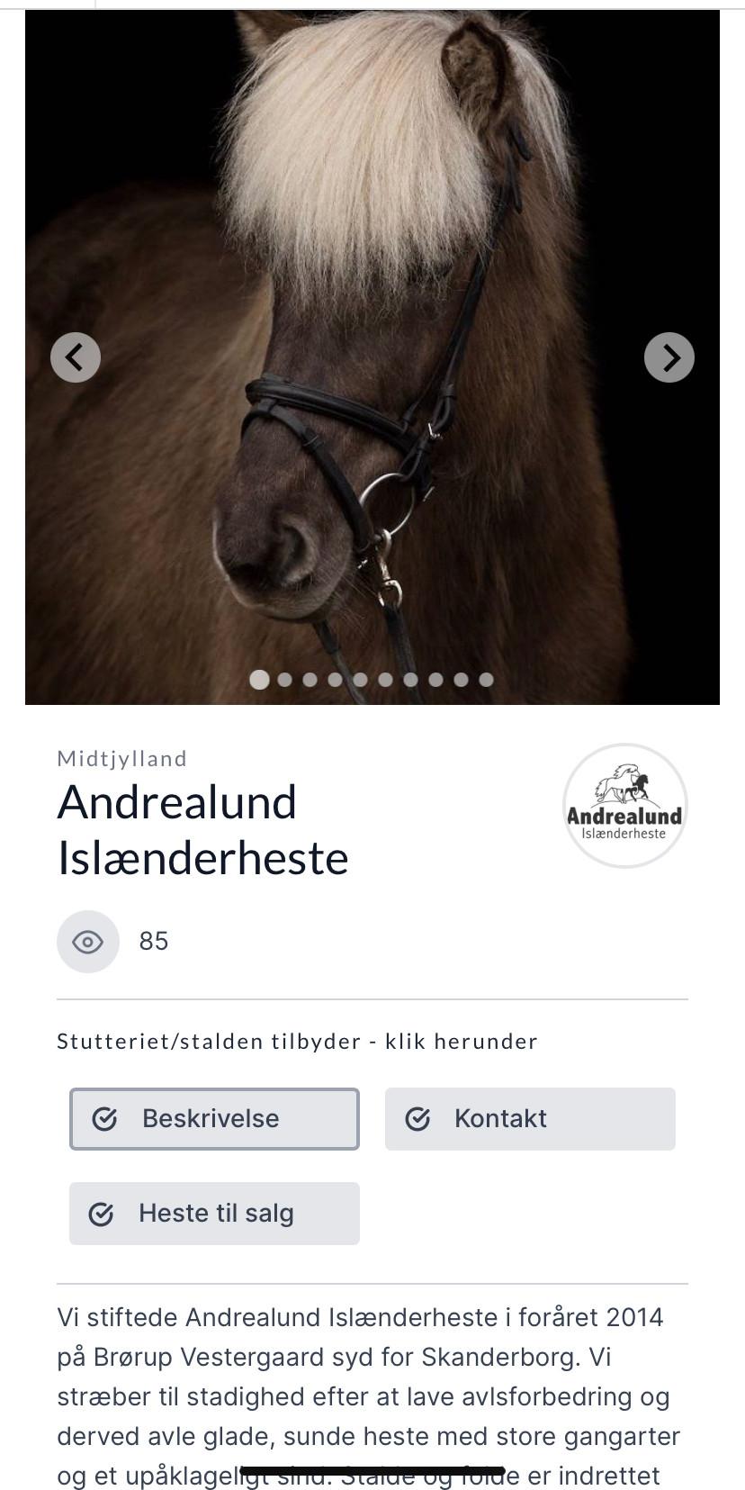 Stutteriprofil på Isfaxi.dk