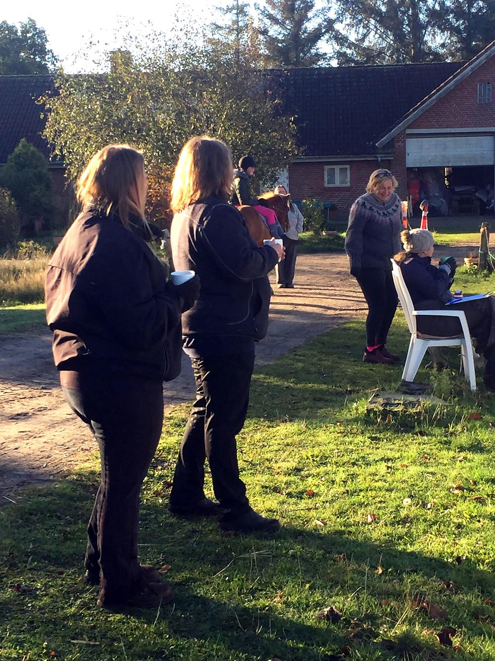 Islænderryttere på kursus i Alrid.