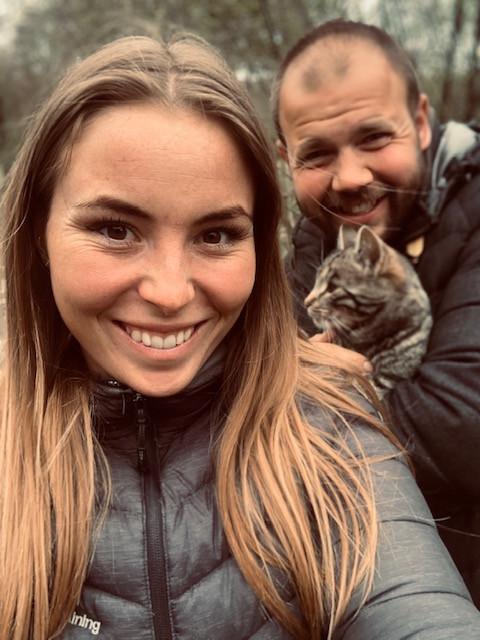 Amalie Møller-San Pedro og kæresten Niels