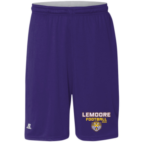 Purple - Printed Mesh Athletic Shorts