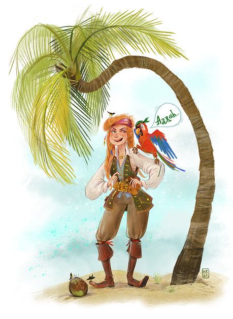 Pirate Girl and Matey