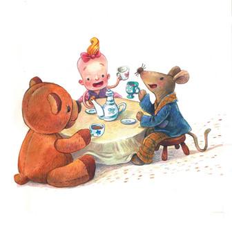Peep - the mouse traveler. Tea time
