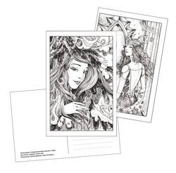 Postcards based on illustrations