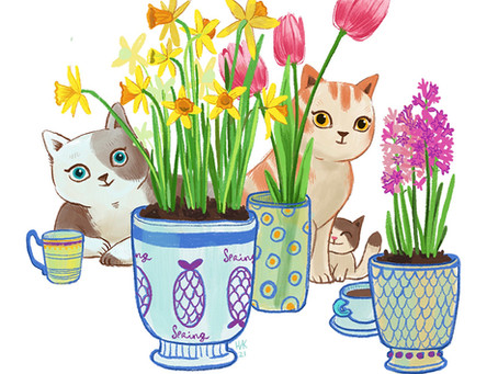 The first day of Spring or Why would an artist draw seasonal illustrations?
