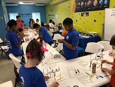 Children working on STEM projects at SmartFit Kids in Severna Park