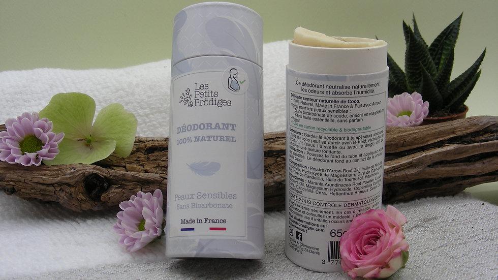 Déodorant Solide Sans odeur Peaux Sensibles.
