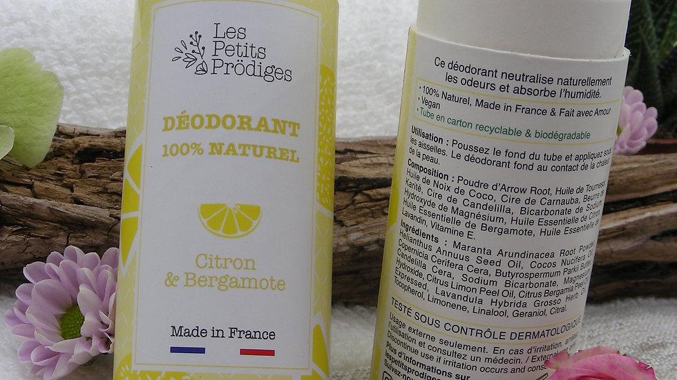 Déodorant Solide Citron & Bergamote