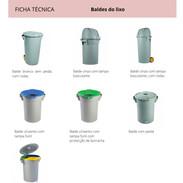 Baldes do lixo
