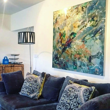 """Ariel 60.5"""" x60.5"""" in its forever home t"""