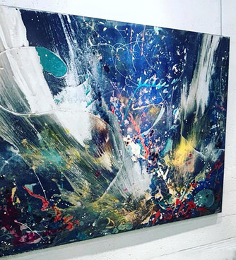 """Explosion of Love 56"""" x76"""""""