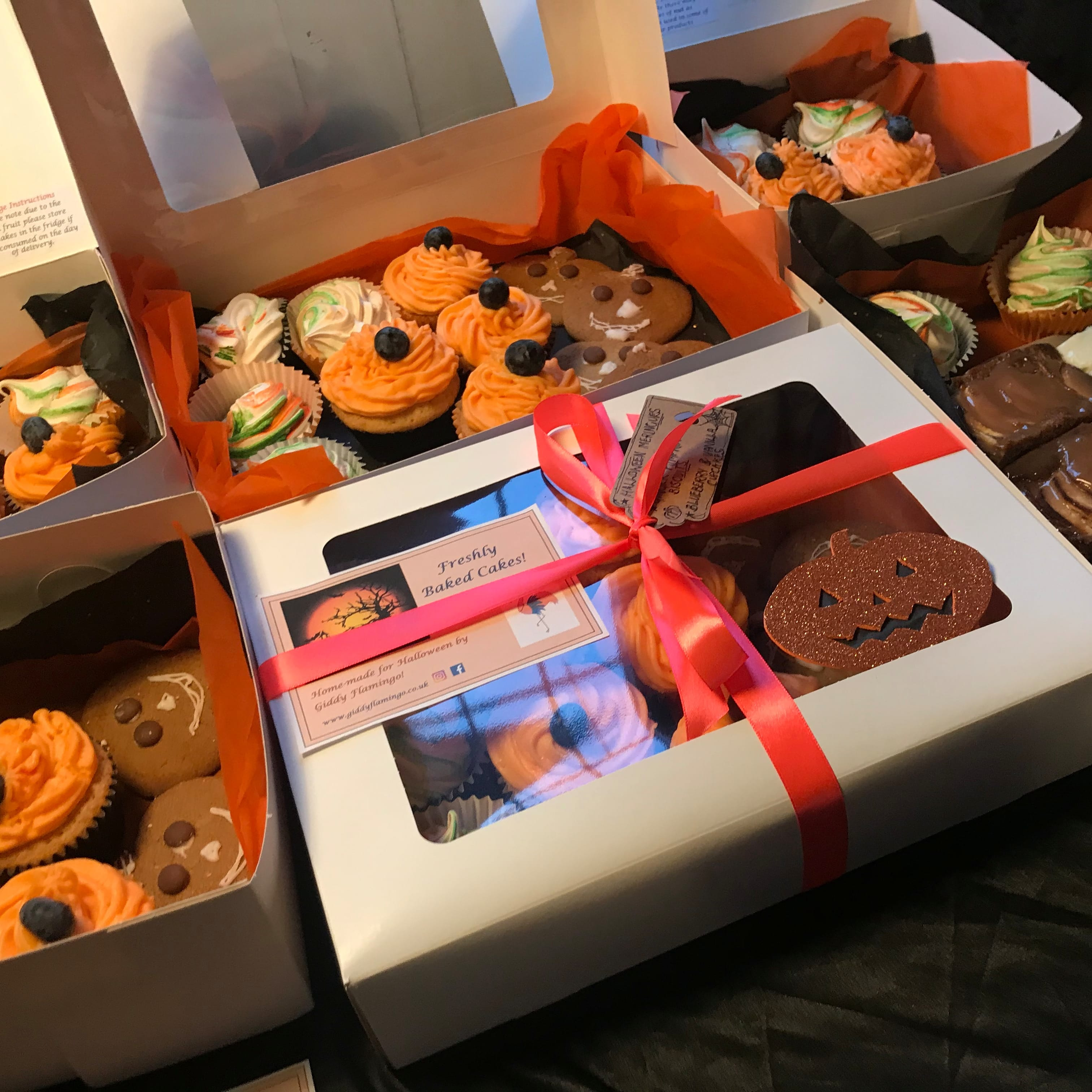Halloween Cake and Sweet Treat Boxes