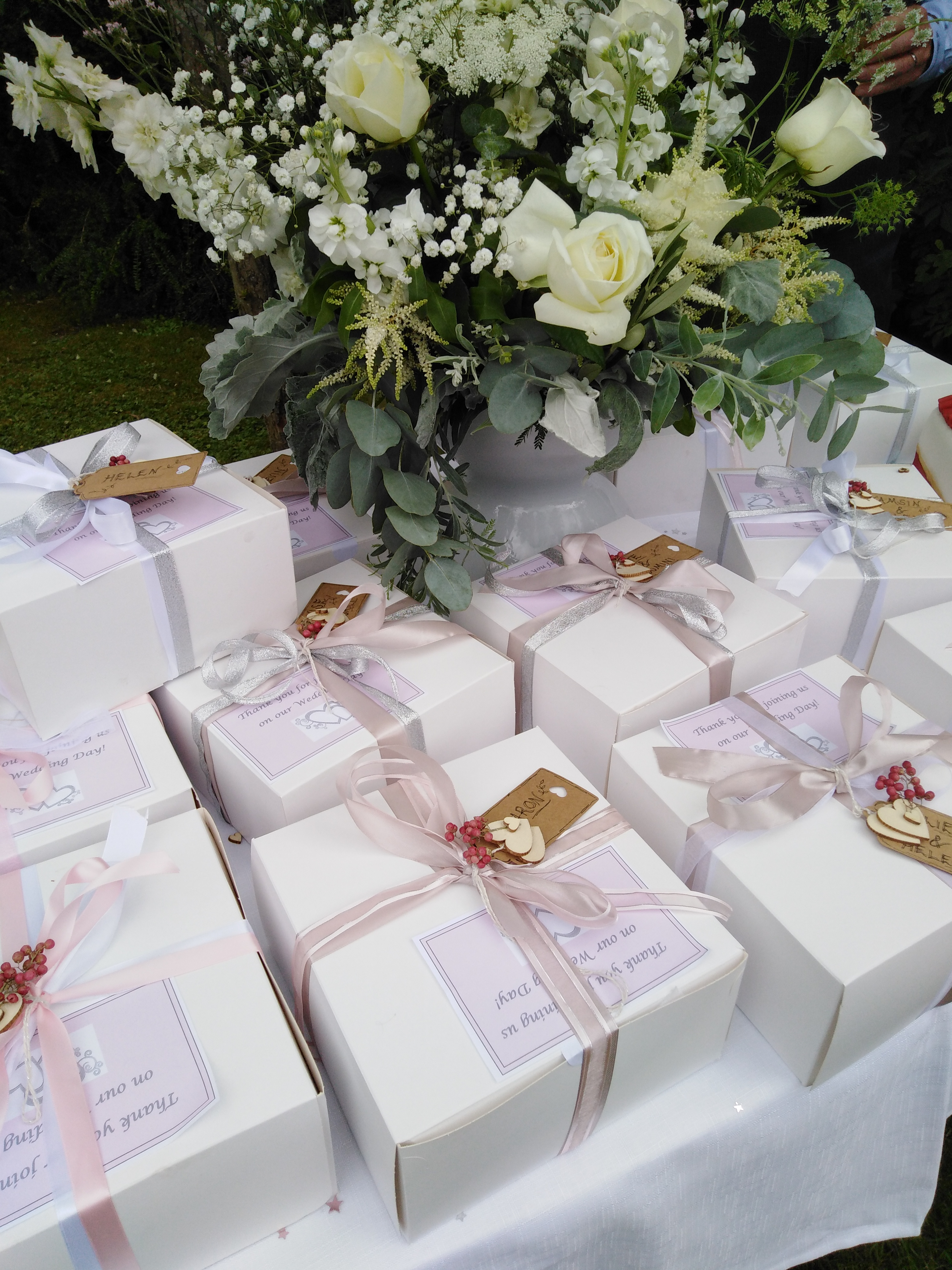 Wedding Afternoon Tea boxes