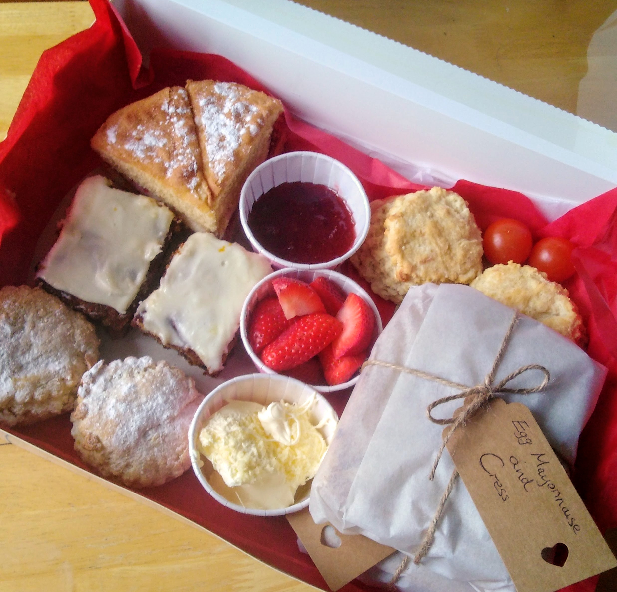 Inside one of our Afternoon Tea Boxes!