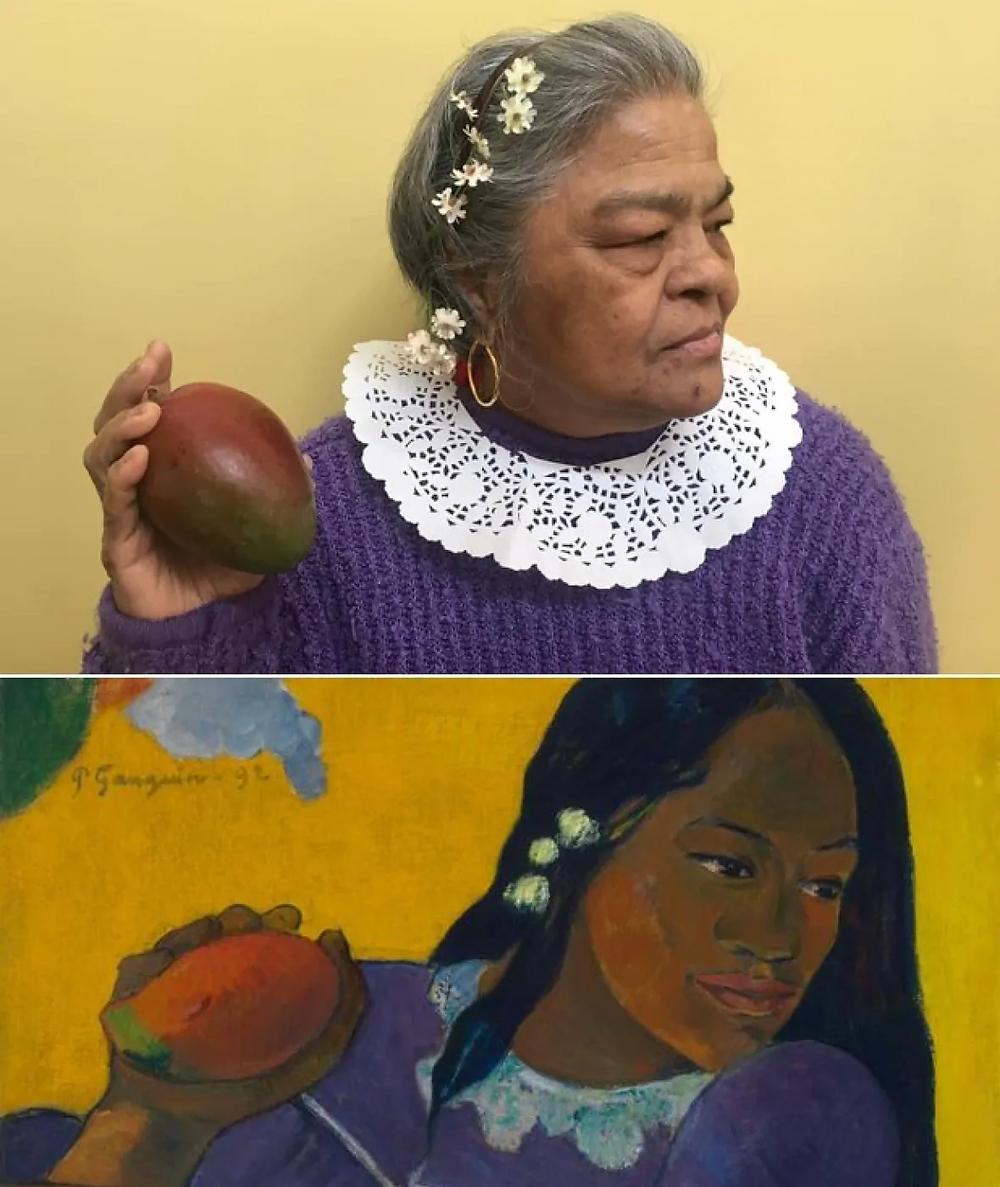 Femme âgée Femme à la mangue Gauguin Karen Schaefer