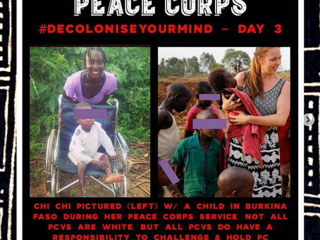 OPERATION NO WHITE SAVIORS - A FORMER PEACE CORPS VOLUNTEERS DECLARATION TO DECOLONIZE THEIR MIND