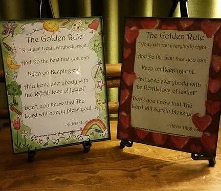 The Golden Rule Poster 8x10 plus CD