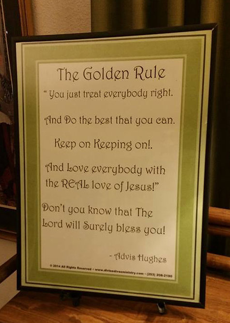 The Golden Rule Poster 16x20 plus CD