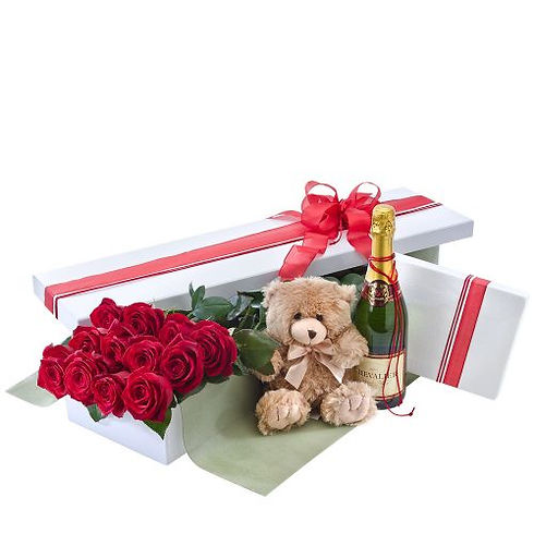 12 ROSES BOXED WITH BEAR AND CHAMPS.jpg