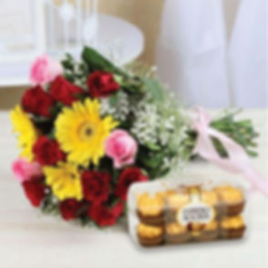 Bunch_of_Mix_Flowers_with_16_Pcs_Ferrero