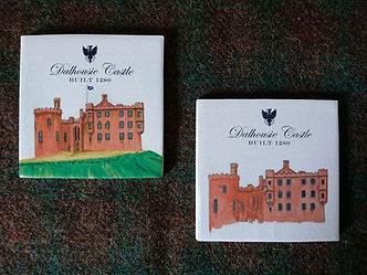 Dalhousie Castle Coasters.JPG