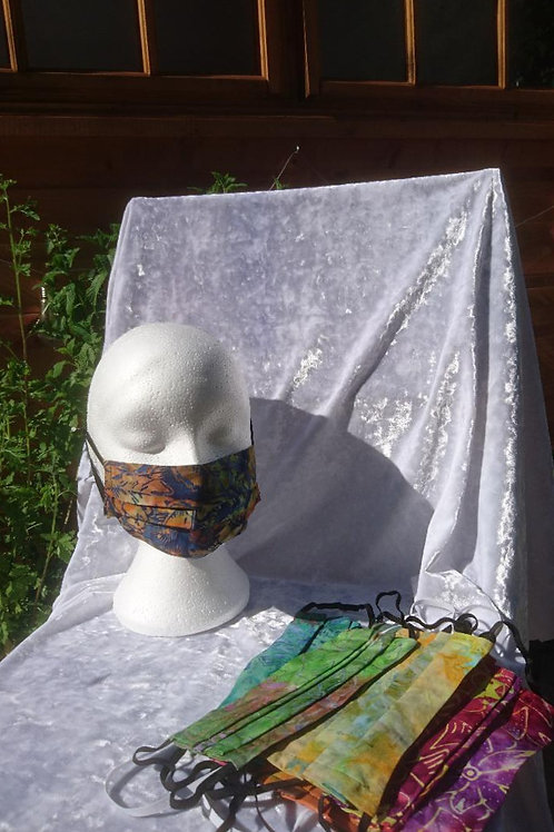 Batik Fabric Face Coverings