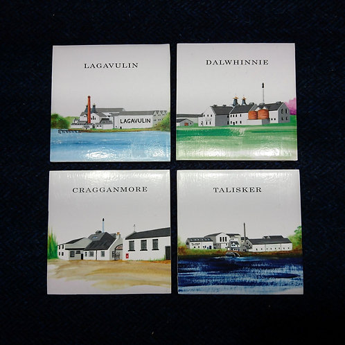Classic Malts Distilleriers Ceramic Coasters
