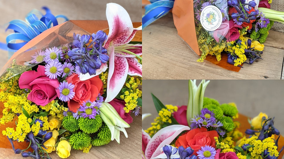 $55 sleeved bouquet