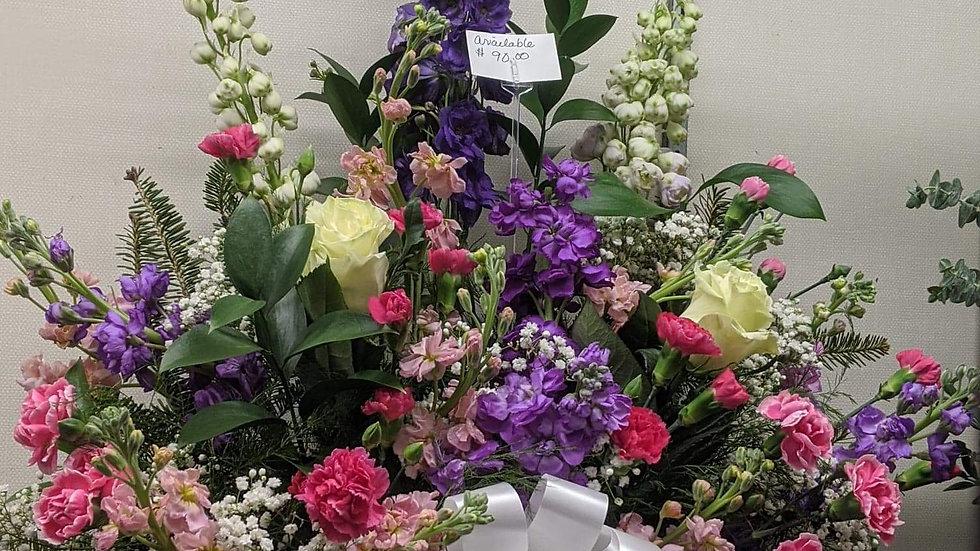 Sympathy paper mache florist choice basket