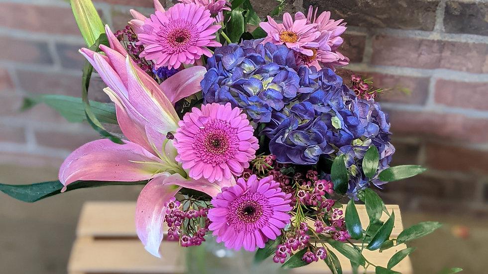 Purple pleasures bouquet (one available)