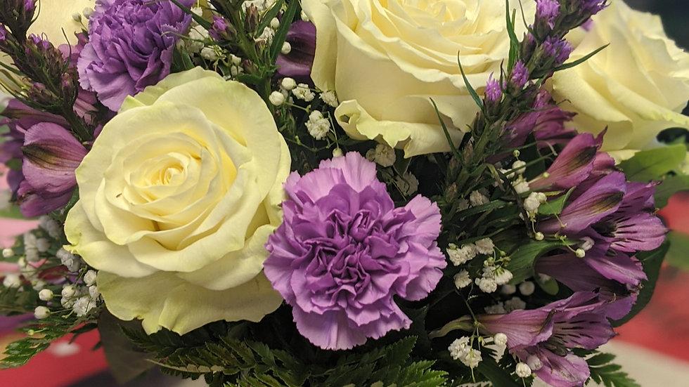 Lavender looks lovely bouquet